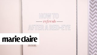 How to Refresh After a Red-Eye | Created by Marie Claire for Rimmel London