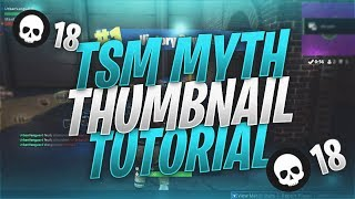 TSM_Myth Thumbnail Tutorial | Free Template Included | Fortnite Battle Royale