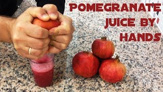 Life hack - How to make Pomegranate juice by hands -  less than 2 minutes [CRAZY HD] thumbnail