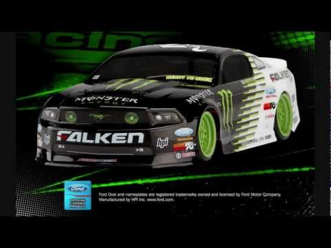 Hpi Mustang Gt Monster Energy Rc Drift Car Youtube