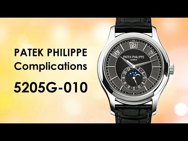 Patek Philippe Complications Mechanical Black and Grey Dial 5205G-010