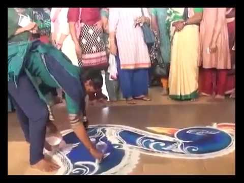 Beautiful colorfull Rangoli Trailer in Minutes By College Girl