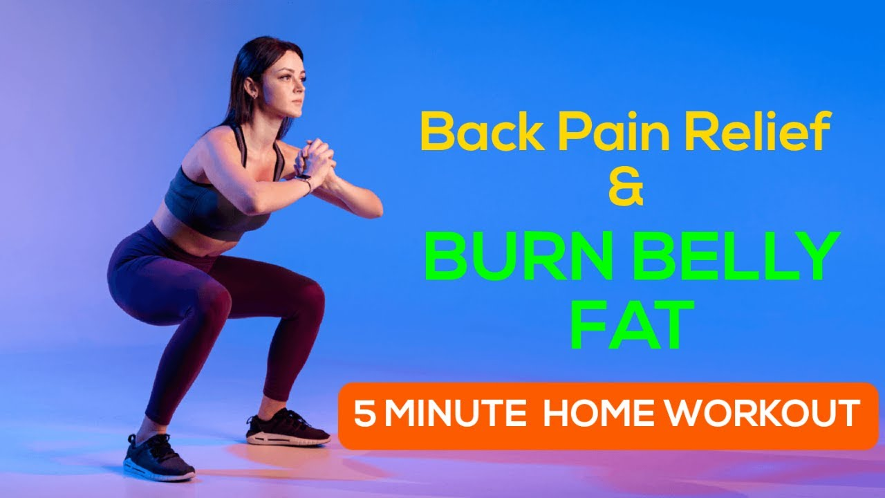 Backpain Relief Exercise   🔥Burn lower belly fat   20 Minutes Home ...