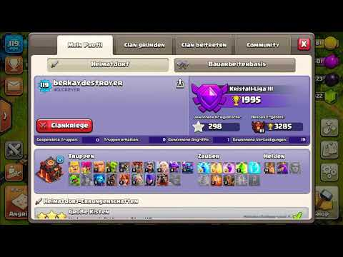 Clash of Clans  COC Account verkaufen ! Max RH 10