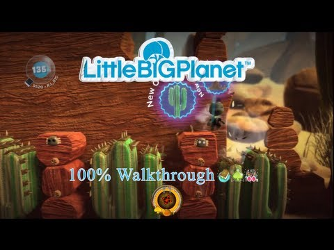 LittleBIGPlanet (720p HD) Walkthrough Part 40 - Boom Town - Initial & Aced