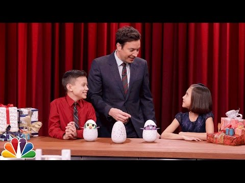 Thumbnail: Jimmy Demos the Hottest Christmas Toys with Kid Experts Evan and Jillian