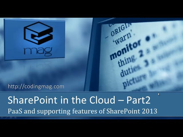SharePoint in the Cloud (Part 2)