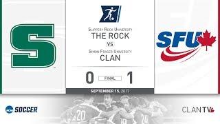 SFU Clan Men's Soccer vs. SRU - September 15, 2017