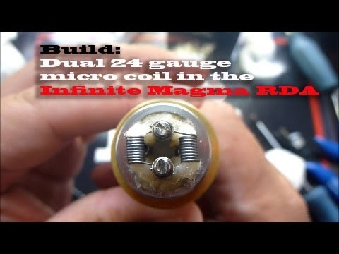 Build: Dual 24 gauge micro coil - YouTube