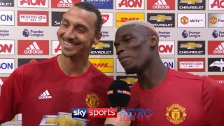 """Next time you pass!"" - Zlatan Ibrahimovic & Paul Pogba joking around in post-match interview"