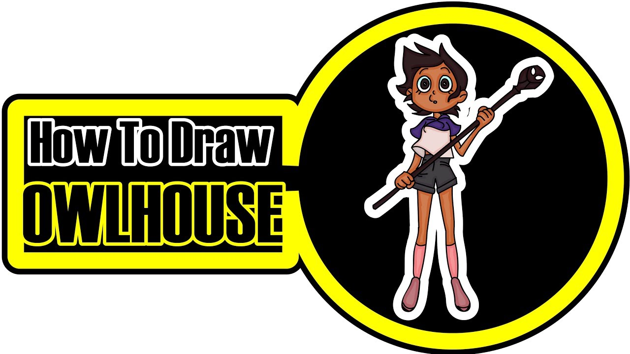 How To Draw The Owl House Easy Cartoon Step By Step Coloring Pages For Kids Youtube