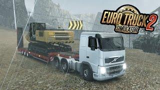 EURO TRUCK SIMULATOR 2  #11 - Transportando Uma Escavadeira!