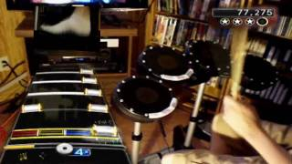 DOA (Foo Fighters) - 100% FC (Rock Band 2 Expert Drums) SPLIT-SCREEN