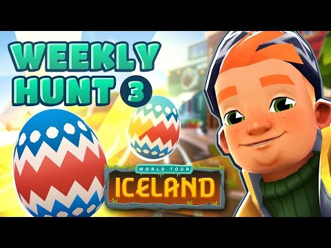 � Subway Surfers Weekly Hunt - Collecting Easter Eggs in Iceland (Week 3)