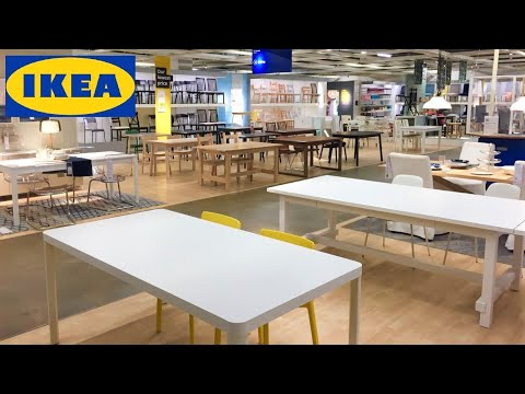 ikea-kitchen-tables-dining-room-furniture-chairs-armchairs-shop-with-me-shopping-store-walk-through