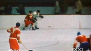The Sovjets win the 1956 Olympic ice-hockey tournament