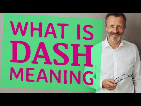 Dash | Meaning Of Dash