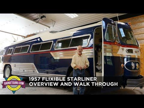 1957 Flxible Starliner - Restored Vintage Retro Bus Walk Through