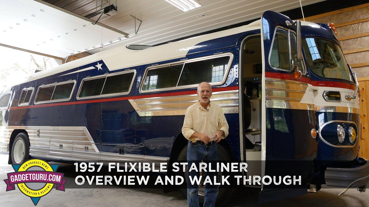 1957 Flxible Starliner Restored Vintage Retro Bus Walk