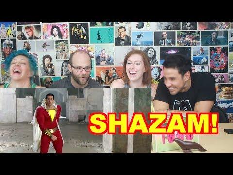 SHAZAM! - Comicon Trailer - REACTION