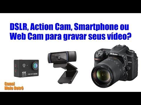 DSLR, Action Cam, Smartphone ou Web Cam para gravar seus vídeo? thumbnail