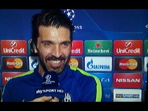 Monaco Juventus 0 0 - Buffon se la ride con Caressa per Chiellini