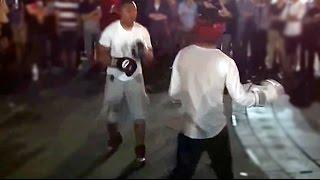 Ex-pro Asian Boxer Vs Black Street Fighter