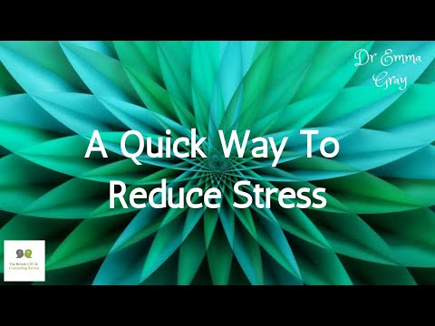 How To Stop Stress in 30 Seconds
