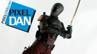hot toys g i joe retaliation snake eyes movie masterpieces 1 6 figure video review