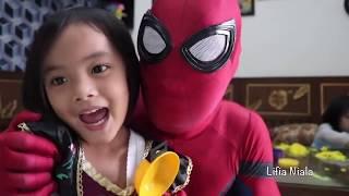 Lifia Niala Kids Pretend Play Cooking Play Doh with Spiderman Elena Anna Elsa Kitchen Set Toys