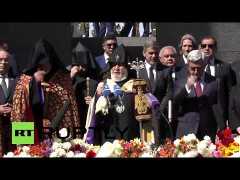 Armenia: George Clooney joins Sargsyan at Armenian genocide ceremony