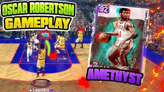 INSANE AMETHYST OSCAR ROBERTSON GAMEPLAY!! 30 POINT DOUBLE DOUBLE!! NBA 2K19 MYTEAM