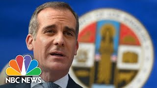 Live: LA Mayor Eric Garcetti Gives Coronavirus Update | NBC News