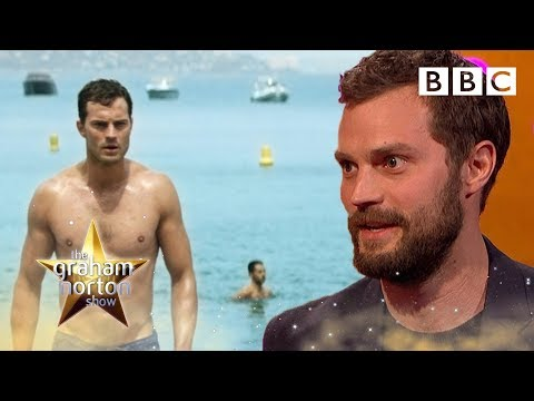 Jamie Dornan struggled to look sexy when walking on a pebble beach   The Graham Norton
