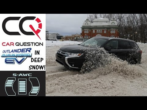 Deep Snow Test | Mitsubishi Outlander PHEV S-AWC | Review 10/10