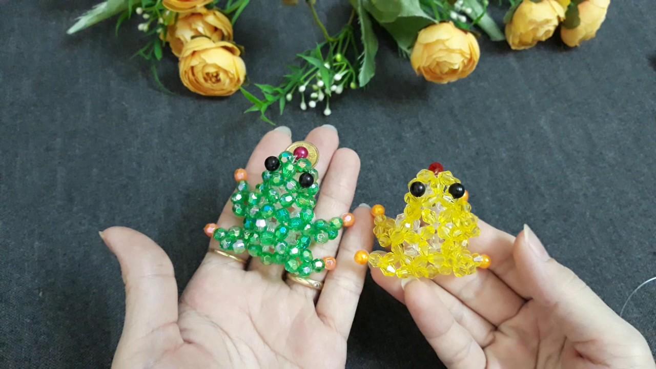 beaded frog# DIY# Kết cườm con Cóc ngậm tiền tài lộc