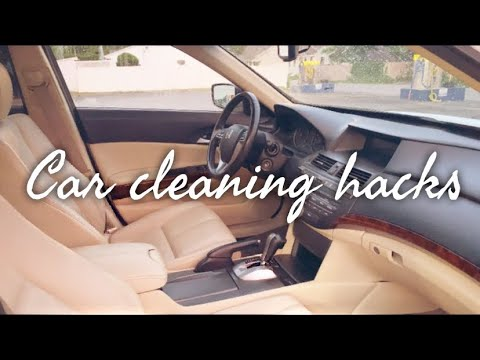 SIMPLE CAR CLEANING HACKS & TIPS