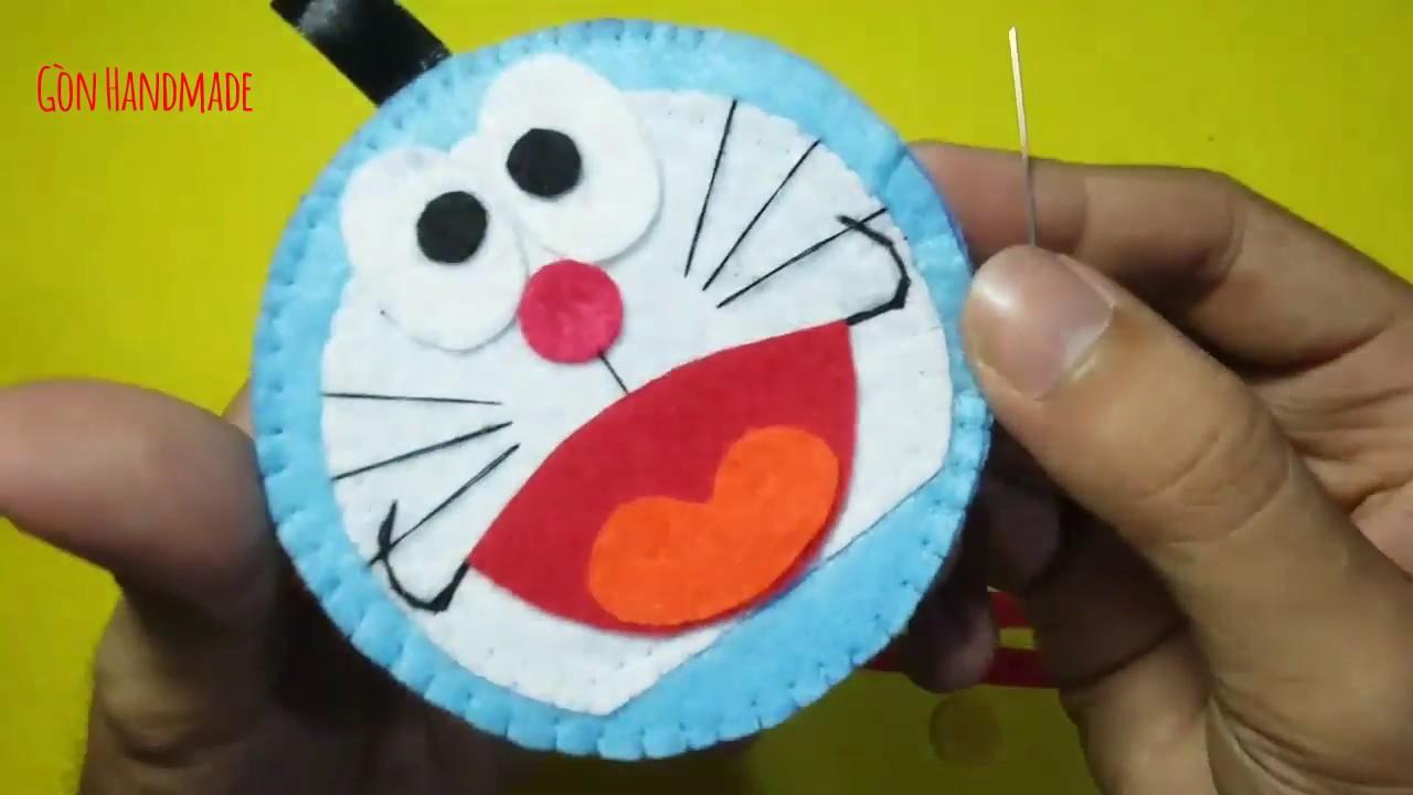 Hướng dẫn làm Doraemon bằng vải nỉ/ DIY – Thú bông vải nỉ.