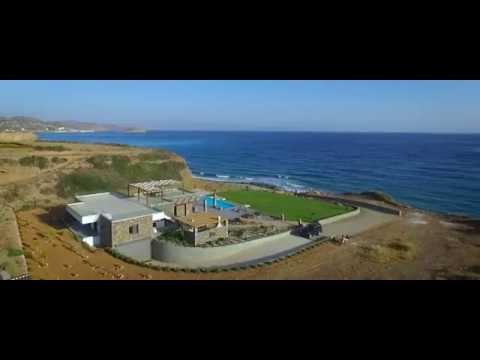 Unique seafront villa with its own harbor for sale, near Mochlos, Crete