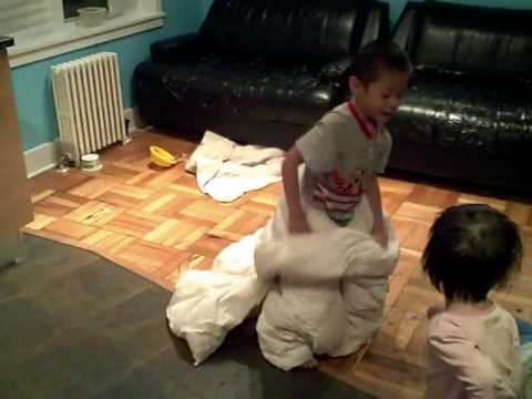 Family Playing With Blanket Chinese New Year New Angelina Haircut