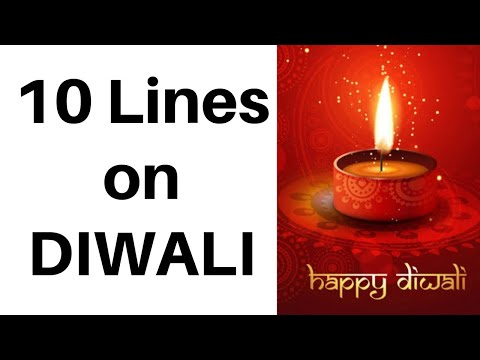 10 Lines On Diwali In English For Kids Easy Speech On Diwali Simple Essay On Diwali For Kids Youtube