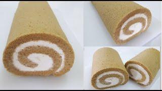 เค้กโรลรสกาแฟ(coffee roll cake) l ครัวป้ามารายห์