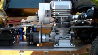 part 1 - voiture rc 1/8 (short course sc8) à moteur 4 temps (OS fs 56 modifié)