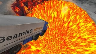 Jumping In Volcano #4  BeamNG.drive