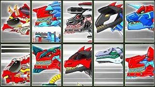 Dino Robot Corps #12: Triceramus & Combined Dinosaurs | Eftsei Gaming