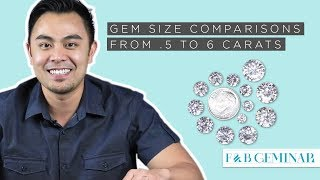 Gem Size Comparisons from .5 to 6 Carats