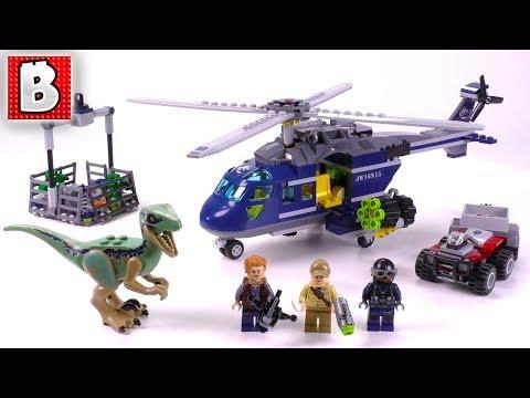 Blue's Helicopter Pursuit review! 2018  LEGO Jurassic World Fallen Kingdom set 75928
