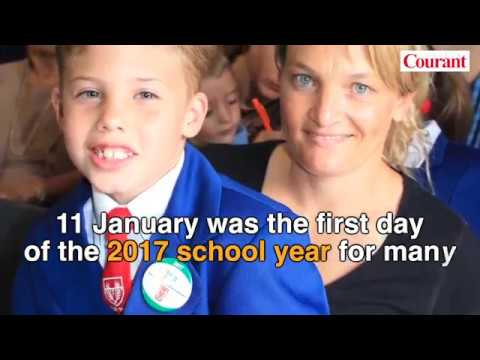 First day of 2017 school year in Bloemfontein
