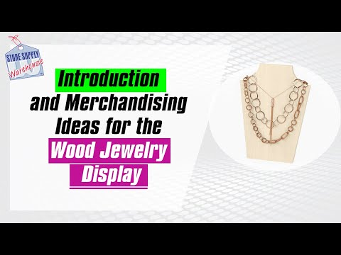 The Wood Jewelry Boutique Display Collection