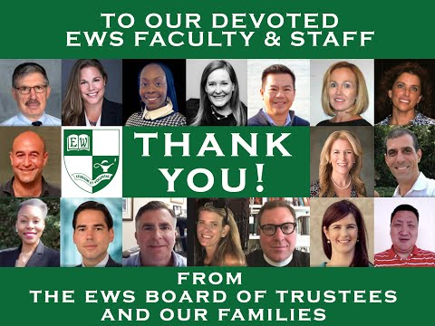 Thank you to Faculty and Staff of East Woods School
